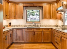 custom wood and granite kitchen