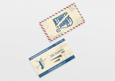 business cards jetways and journeys 400x284 - Graphic Design