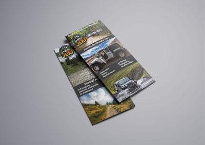 rackcard jeep rentals 400x284 - Graphic Design