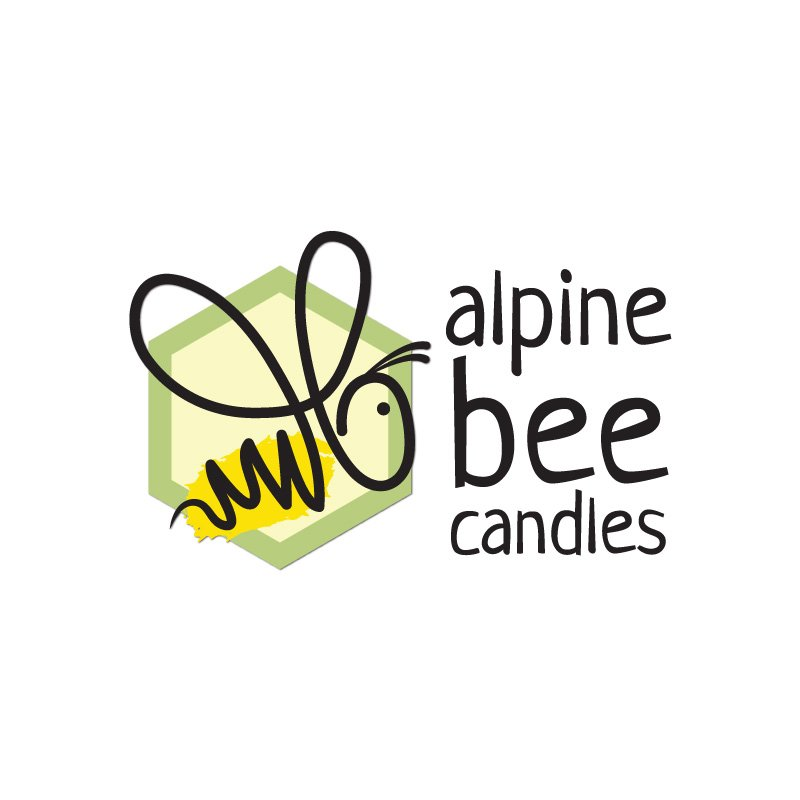 hive 180 logo development steamboat colorado alpine bee candles - Branding Development